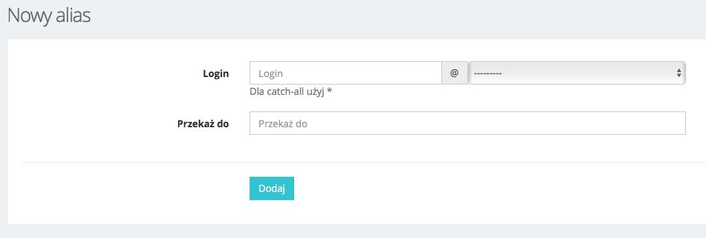 Jak dodać alias pocztowy